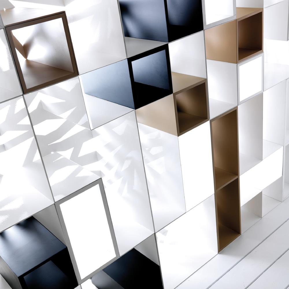 ESEDRA DESIGN - DOMINO - Libreria design struttura in lamiera ...