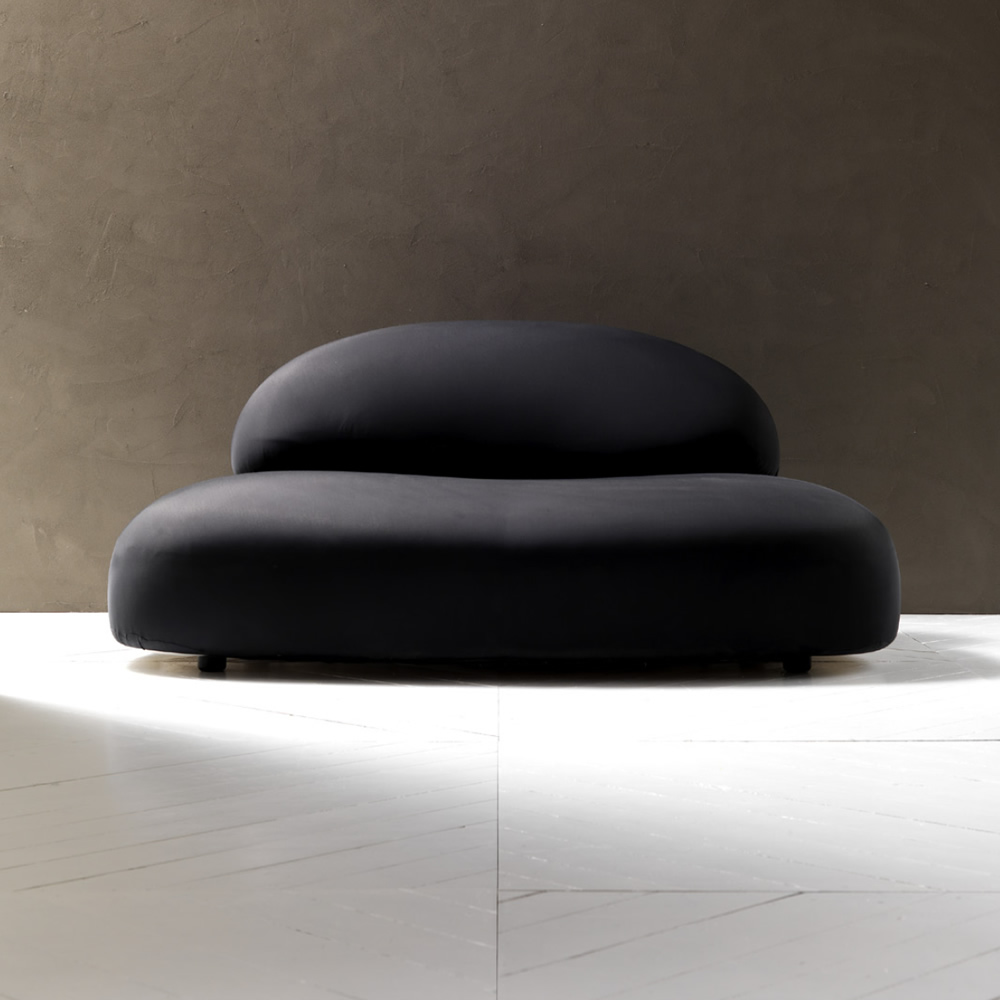 Divano Poltrona Scoop Imbottito Tessuto : Esedra design scoop divano imbottito in poliuretano e